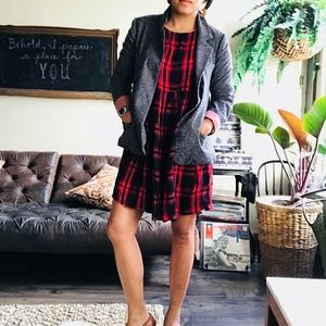 Dresses & Skirts - Plaid Dress Fall Chic